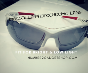 แว่นกีฬาสายตา เลนส์ปรับแสง Marseille